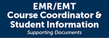 EMR/EMT Course Application & Student Information